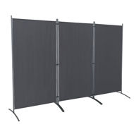 Picture of 3 Panel Room Divider - Grey