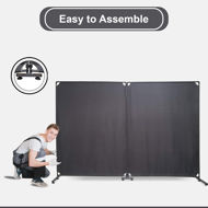 Picture of Room Divider Office Wall Divider 100'' Gray